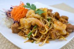 垫泰国泰国食物原物 库存照片