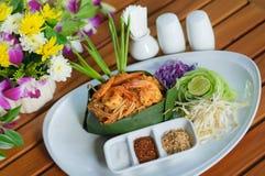 垫泰国用虾 免版税库存照片