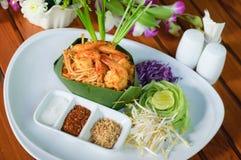 垫泰国用虾 免版税图库摄影