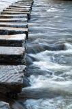 垫脚石- Lealholm -北约克郡-英国 库存图片