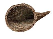 垫铁样式被编织的容器 免版税库存照片