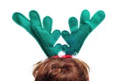 垫铁驯鹿圣诞老人 免版税库存照片