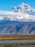 埃亚菲亚德拉冰盖火山,冰岛 免版税图库摄影