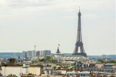 埃佛尔铁塔和巴黎地平线,法国 免版税库存图片
