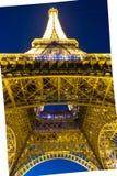 埃佛尔铁塔在晚上,巴黎,法国 图库摄影