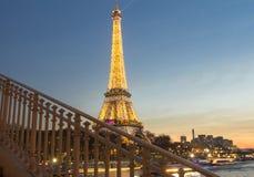 埃佛尔铁塔在晚上,巴黎,法国 免版税图库摄影
