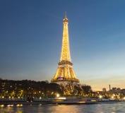 埃佛尔铁塔在晚上,巴黎,法国 库存图片