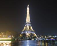埃佛尔铁塔在晚上,巴黎,法国 库存照片