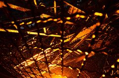 埃佛尔铁塔在雨中 库存照片