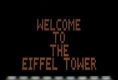 埃佛尔铁塔显示 免版税库存照片