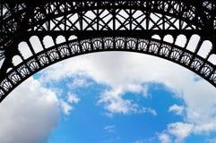 埃佛尔铁塔曲拱  图库摄影