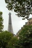 埃佛尔铁塔的上面 免版税库存图片