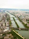 从埃佛尔铁塔的视图 库存图片