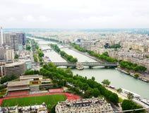 从埃佛尔铁塔的视图 图库摄影