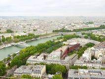 从埃佛尔铁塔的视图 免版税库存照片