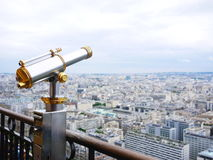 从埃佛尔铁塔的视图 免版税库存图片