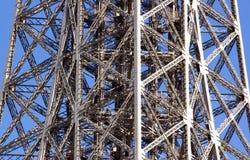 埃佛尔铁塔的钢结构  免版税库存照片