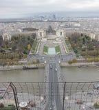 从埃佛尔铁塔的顶视图 免版税库存图片