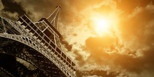 埃佛尔铁塔,巴黎葡萄酒视图  免版税图库摄影