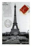 埃佛尔铁塔,巴黎,法国,大约1919年, 免版税库存照片