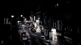 埃克塞特,南大街在晚上 股票录像