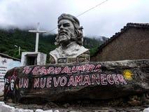 埃内斯托切・格瓦拉en Vallegrande 免版税库存图片