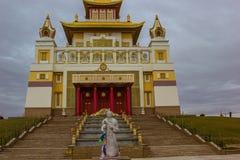 埃利斯塔卡尔梅克共和国佛教寺庙 库存图片