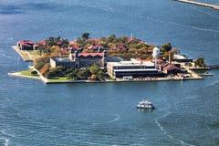 埃利斯岛新的美国约克 库存图片