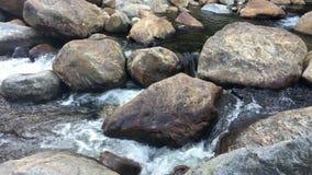 埃利斯河急流在平克姆山谷,新罕布什尔 股票视频