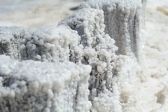 埃利通湖水晶盐  库存照片