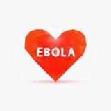 埃博拉病毒在多心脏 向量例证