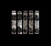 埃博拉病毒概念 库存图片
