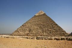 埃及。开罗-吉萨棉。金字塔全视图从吉萨棉的 库存图片