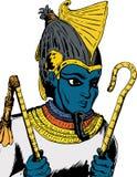 埃及上帝Osirus 皇族释放例证