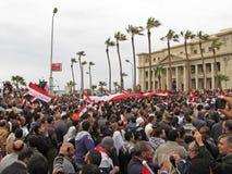 埃及亚历克斯的demostrators 免版税库存照片