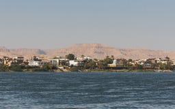 埃及人的传统建筑学Th海岸线的  库存图片