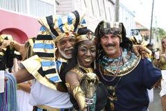 埃及人Crucian狂欢节队伍马戏团 免版税库存图片