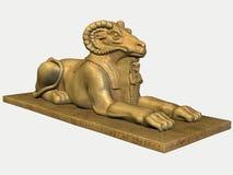 埃及公羊雕象石头 库存照片