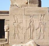 埃及力量 列庭院圣洁卢克索多数副寺庙 免版税库存照片