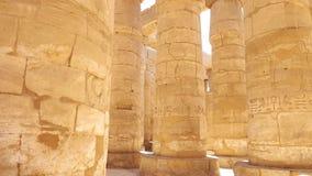 埃及力量 列庭院圣洁卢克索多数副寺庙 免版税图库摄影