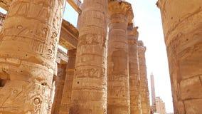 埃及力量 列庭院圣洁卢克索多数副寺庙 库存图片