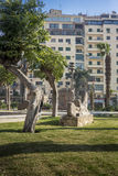 埃及博物馆庭院,开罗,埃及 图库摄影