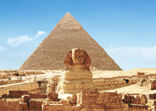 埃及吉萨棉极大的狮身人面象 免版税库存图片