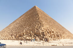 埃及吉萨棉金字塔体育场 免版税库存图片