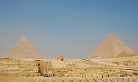 埃及吉萨棉金字塔视图 库存图片