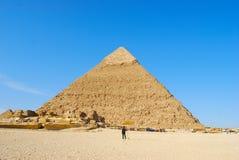 埃及吉萨棉金字塔 免版税图库摄影