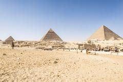 埃及吉萨棉金字塔 免版税库存图片