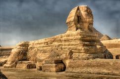 埃及吉萨棉hdr图象狮身人面象 免版税库存照片