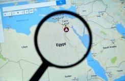 埃及和开罗Google Maps的 免版税库存照片