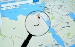 埃及和开罗Google Maps的 图库摄影